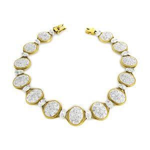 Jewelry - Yellow Gold  Diamond Ladies Bracelet